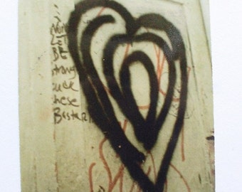 Photo Card, Graffiti Troubled Hearts