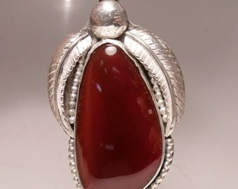 Carnelian in Sterling Silver Pendant Large RF521