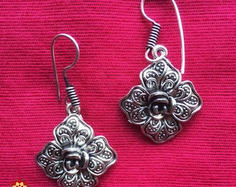 Light weight danglers, oxidized danglers, german silver, simple earrings