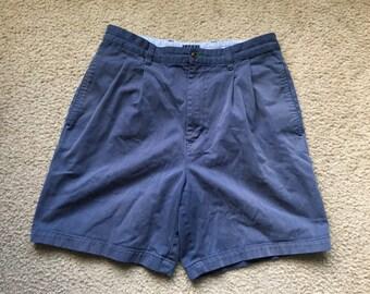 Men's Vintage 90s Tommy Hilfiger Blue Casual Shorts Size 32