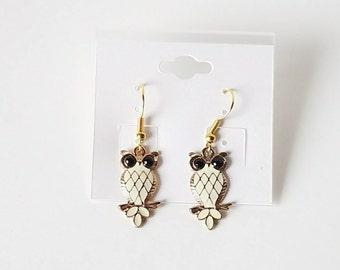 Owl Dangle and Drop Earrings