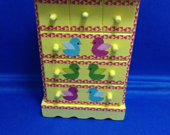 Doll House Baby's Room Chest of Drawers Yellow with Ducks