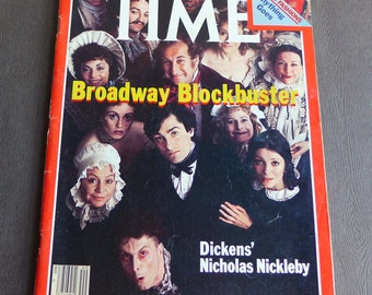 Time Magazine October 5 1981, Nicholas Nickelby on Broadway, Dickens Novel Theater, Royal Shakespeare Company, 1981 American Magazine