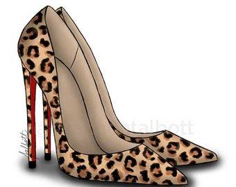 Cheetah Stiletto Print