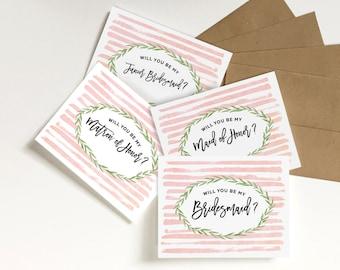 will you be my bridesmaid card, Bridesmaid cards, bridesmaid proposal, bridal party cards, maid of honor card, bridal folded cards