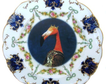 Baroness Flamant Portrait Plate - 6""