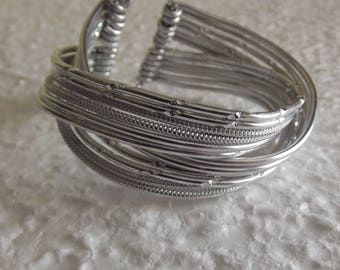 Beautiful Silver Aluminum bracelet.