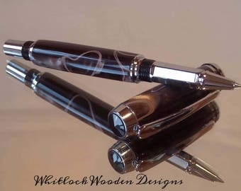 Chocolate & Cream Rollerball Pen