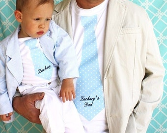 Personalized  Tshirt. Gift Set for Baby Boy for Daddy. Tie Bodysuit, Tie T-shirt. 1st Birthday,  Daddy Me, Men's Tee Wedding Tie Christmas