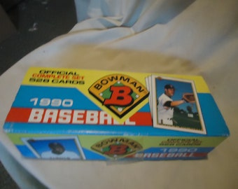 Vintage 1990 Bowman Baseball Official Compete Set In Box, collectable