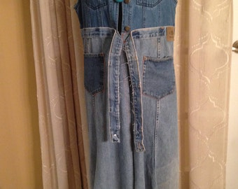 Full-length Denim Duster/Coat