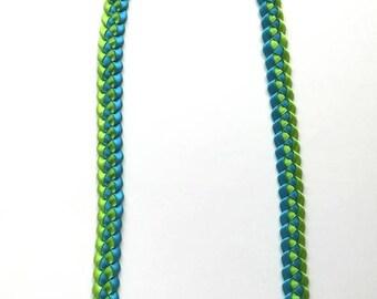 Single Braided Ribbon Lei