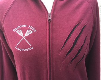 Teen Wolf inspired Lacrosse Hoodie - customized with any name