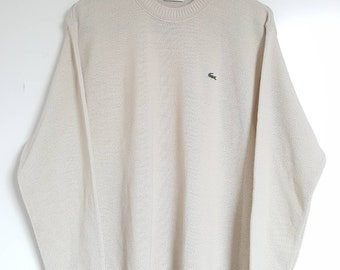 60% Pure wool Vintage vintage Lacoste sweater 90-00 Made in France size 4 (M).