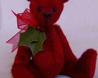 Holly Christmas Teddy Bear E-Pattern