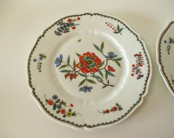 Haviland Limoges Grenada Bread Butter Plates / Floral Appetizer Plates / Mid Century Plates / French Dinnerware / French Country Home