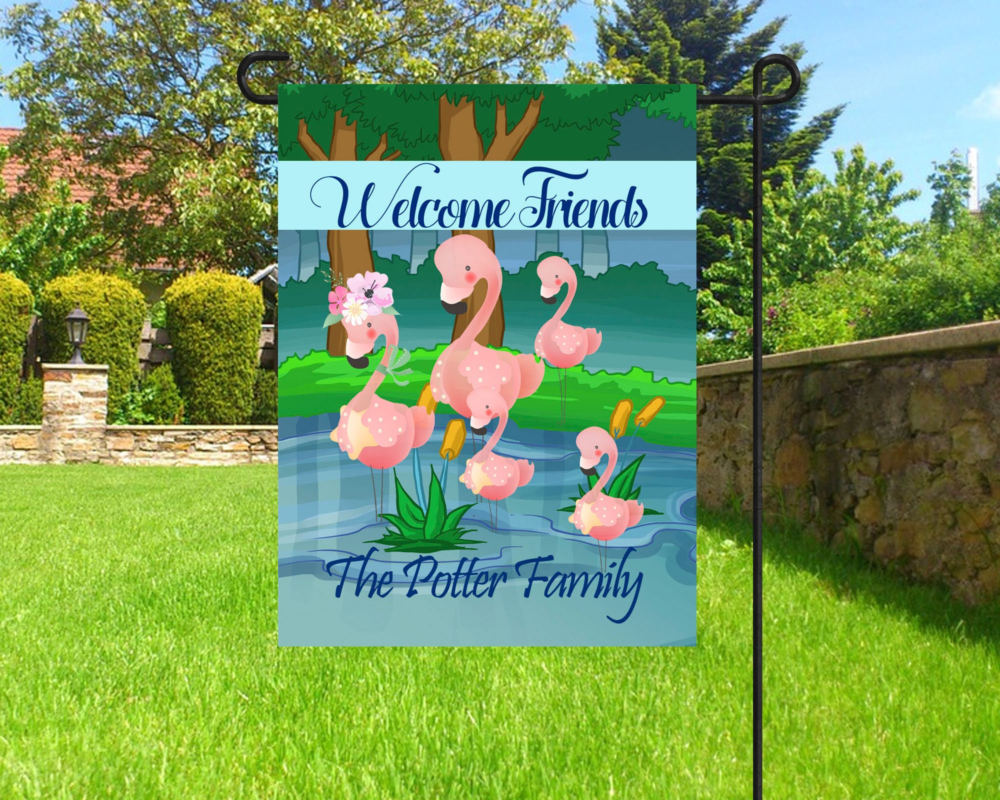 summer cover mailbox mailwraps pink flags com flamingos ip tropical garden standard nautical flamingo walmart