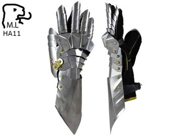 New bracer gauntlet Medieval knight stainless steel Armor Larp Faire Gothic HA11
