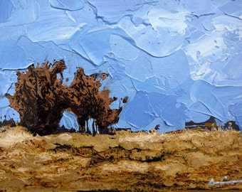 Abstract Painting,  Original Oil Painting on Canvas 7x5 inches.
