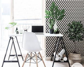 Geometric Wallpaper / Scandinavian Wallpaper / Traditional or Removable Wallpaper