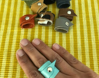 Leather Rings (Set of 9)