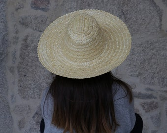 Straw hat, woman/man hat, portuguese straw, summer hat, sun hat, spring hat, wall decoration.