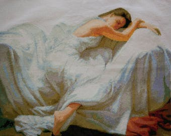 New Finished Completed Cross Stitch - Sleeping Beauty - P6