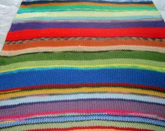 Scrap Tube Afghan Throw Blanket