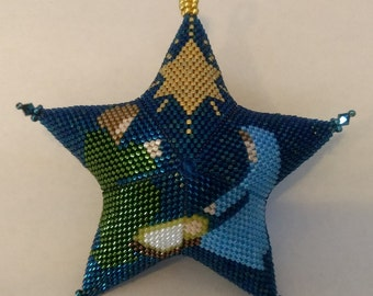 Large Peyote Nativity Star Pattern