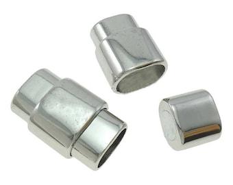 2 Large Magnetic Clasps with 6x10mm Inner Hole