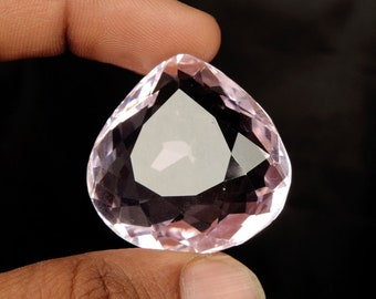 Brazilian Baby Pink Topaz 91.00 Ct. Faceted Pear Cut Pink Topaz, Pendant Size Pink Topaz, Jewelry Making Pink Topaz Loose Gemstone D-855