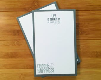 Choose Happiness Quotepads