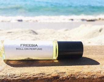 Mother's Day Gift // FREESIA || Roll on Perfume || Long lasting perfume || vegan perfume || perfume oil