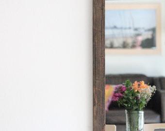 Large Mirror, Wall Mirror, Rustic Mirror, Farmhouse Decor, Bathroom Mirror, Full Length Mirror, Wood Mirror, Vanity Mirror, Mirrors, Frame