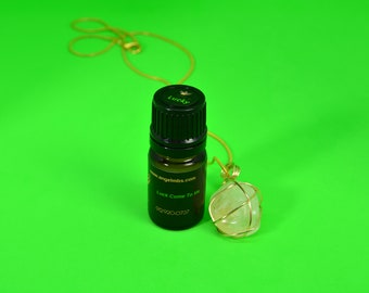Money Drawing Oil & Citrine Stone Lucky Set