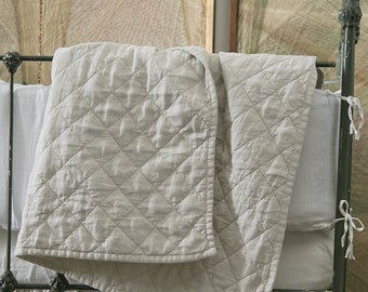 Ida Linen Baby Quilt, Baby Bedding - Several Colors