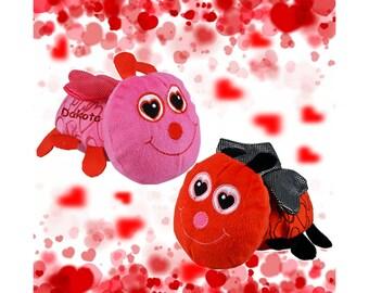 Valentine's Day Gift,Valentine's Day,Personalized Gift,Valentine's Day Kids,Personalized,Stuffed Animal,LoveBug,Plush,Plushie,Plush Toy