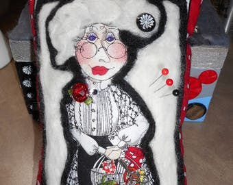 Needle Felted Granny Pin Cushion