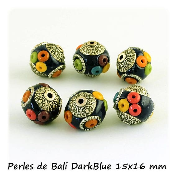 Pearl of Bali 14 x 16 mm ல் [DarkBlue] x 1
