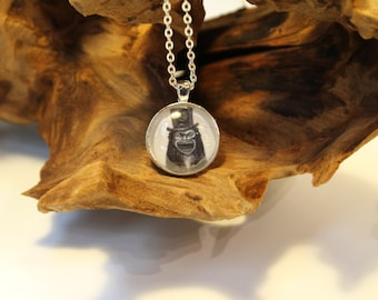 The Babadook Book Horror Monster Movie Monster Black and White Photo Pendant Necklace Gift Creepy