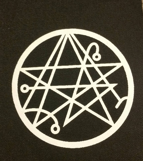 Is There Anything The Devil Can T Rock Lucifer: NECRONOMICON SIGIL Patch Satan Devil Witch Magik Book Of The