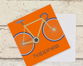 Bicycle Greeting Card, Blank Card, Card for Cyclist, Card for Road Biker, Gift for Road Biker, Slogan Blank Card