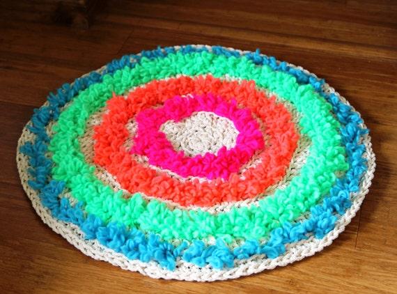 Abverkauf runder teppich häkeln sie bunte runde teppich