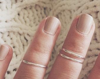 Set of 3 midi rings, sterling silver midi ring, midi ring, knuckle rings, top finger ring, top finger rings, midis, midi, sterling silver