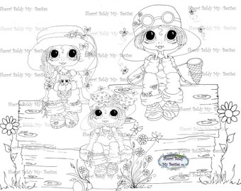 SOFORTIGER DOWNLOAD Digi Stamps Big Eye Großkopf Dolls Digi friends Keepers der Fehler von Sherri Baldy