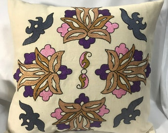 Embroidered Pillow Case.
