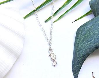 Mama ocean love silver necklace