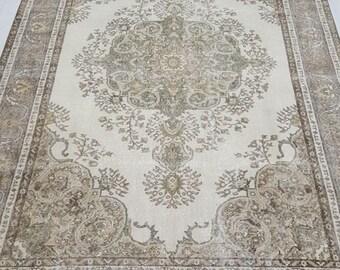 7 by 10 rug, Large Vintage Rug, Large Oushak Rug, Large Turkish Rug, Large Area Rug, Large Boho Rug, Oushak Rug, Large Rug, Oversize Rug