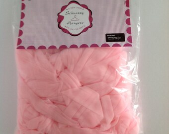 Pink Material for Covering Schnazzy Hangers
