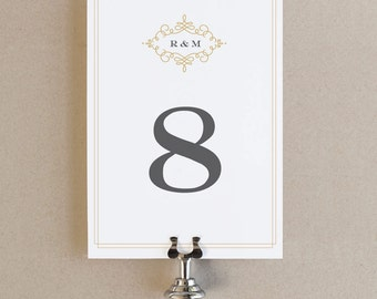 Instant Download - Ornate - DIY Printable Table Numbers